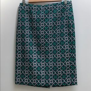 J. Crew Printed No. 2 Pencil Skirt Size 4